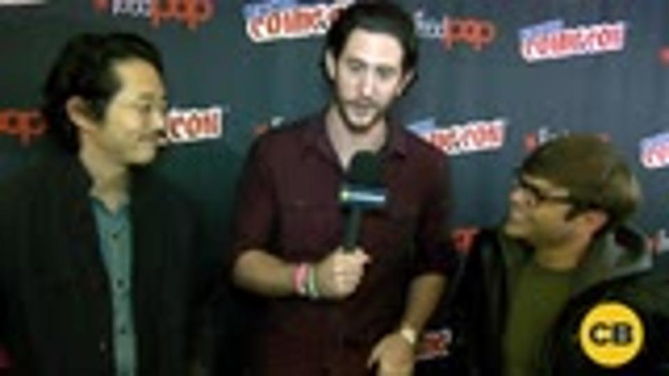 Trollhunters' Steven Yeun and Charlie Saxton at the New York Comic Con screen capture