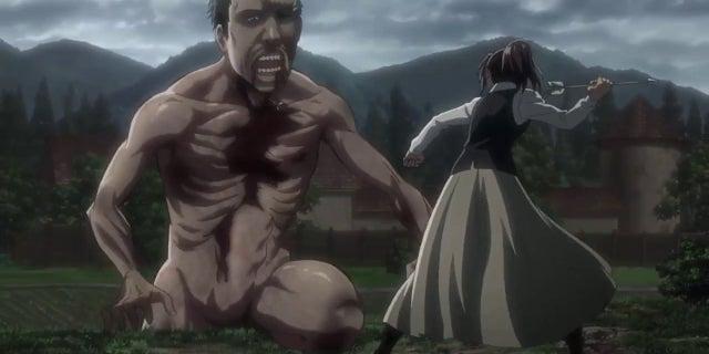 Attack on Titan Sasha vs Connie's Dad Titan