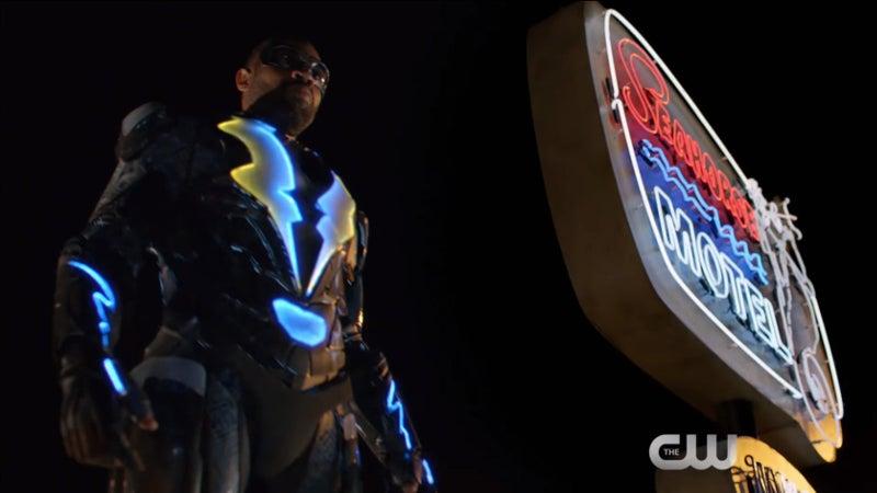 Black Lightning CW Light Up Costume Suit