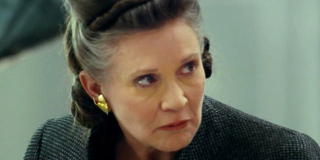 Carrie Fisher as General Leia in Star Wars The Last Jedi