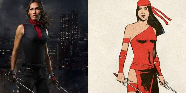 Elektra MCU vs Marvel Comics Costume