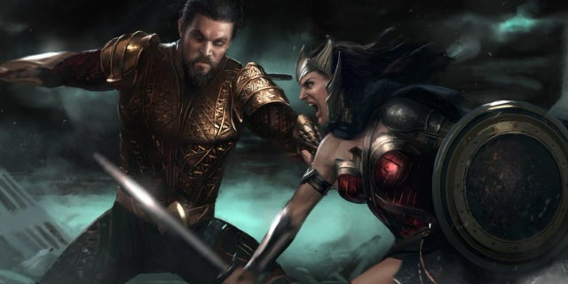 Flashpoint DCEU Aquaman vs Wonder Woman