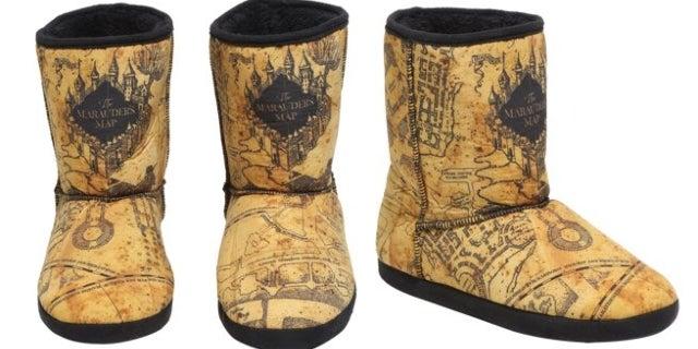 marauders-map-slipper-boots