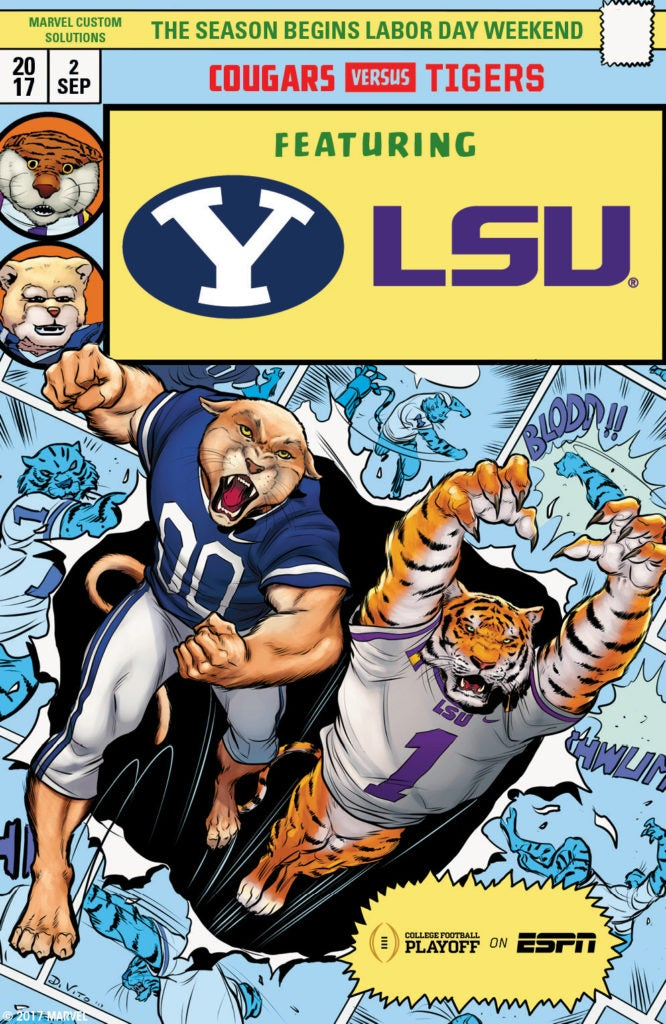 Marvel Comics College Football Kickoff Weekend - BYU vs LSU