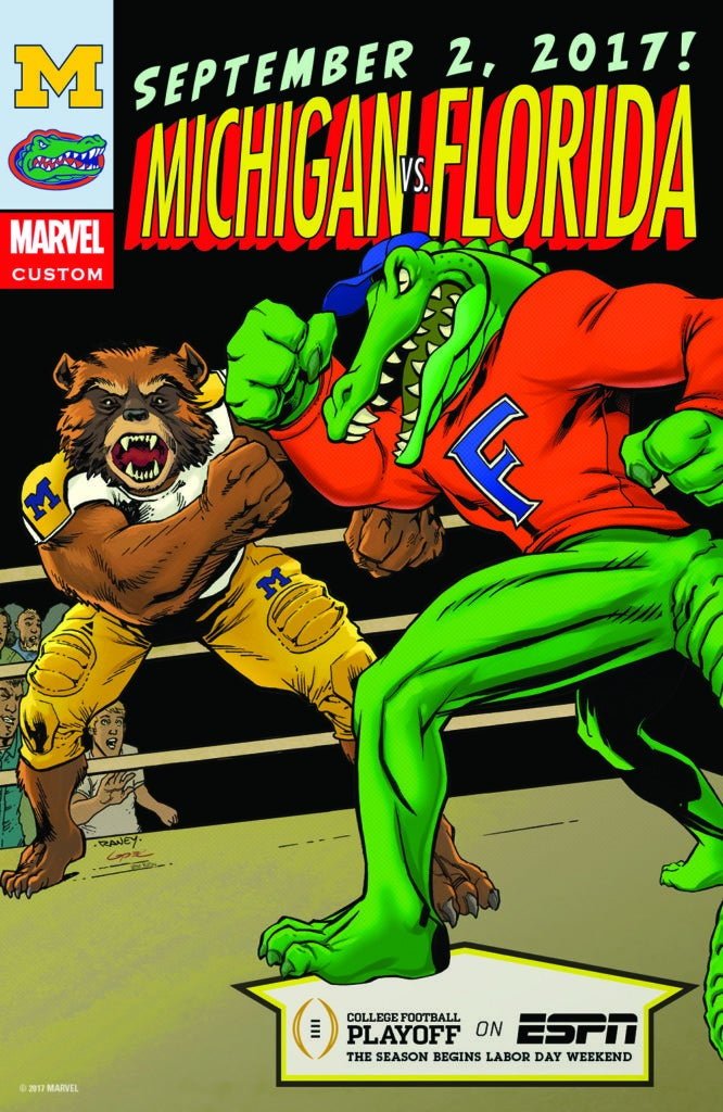Marvel Comics College Football Kickoff Weekend - Michigan vs Florida