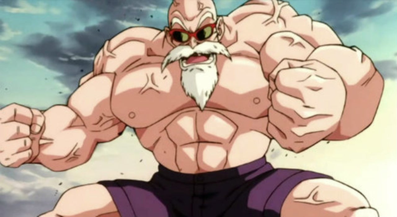 Buff Dragon Ball Cosplayer Returns with Favorite Roshi Look