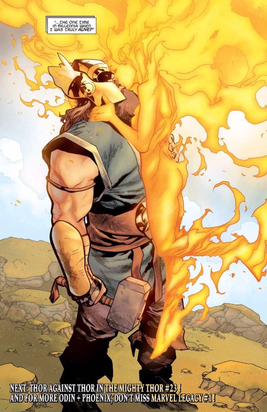 Odin and Phoenix Marvel