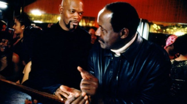 Samuel L. Jackson and Richard Roundtree in Shaft (2000)