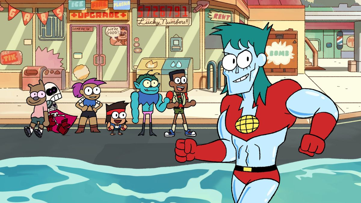 Captain Planet in OK KO Lets Be Heroes Cameo