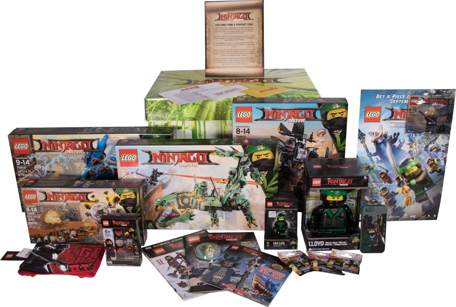 Giveaway Products - The LEGO Ninjago Movie