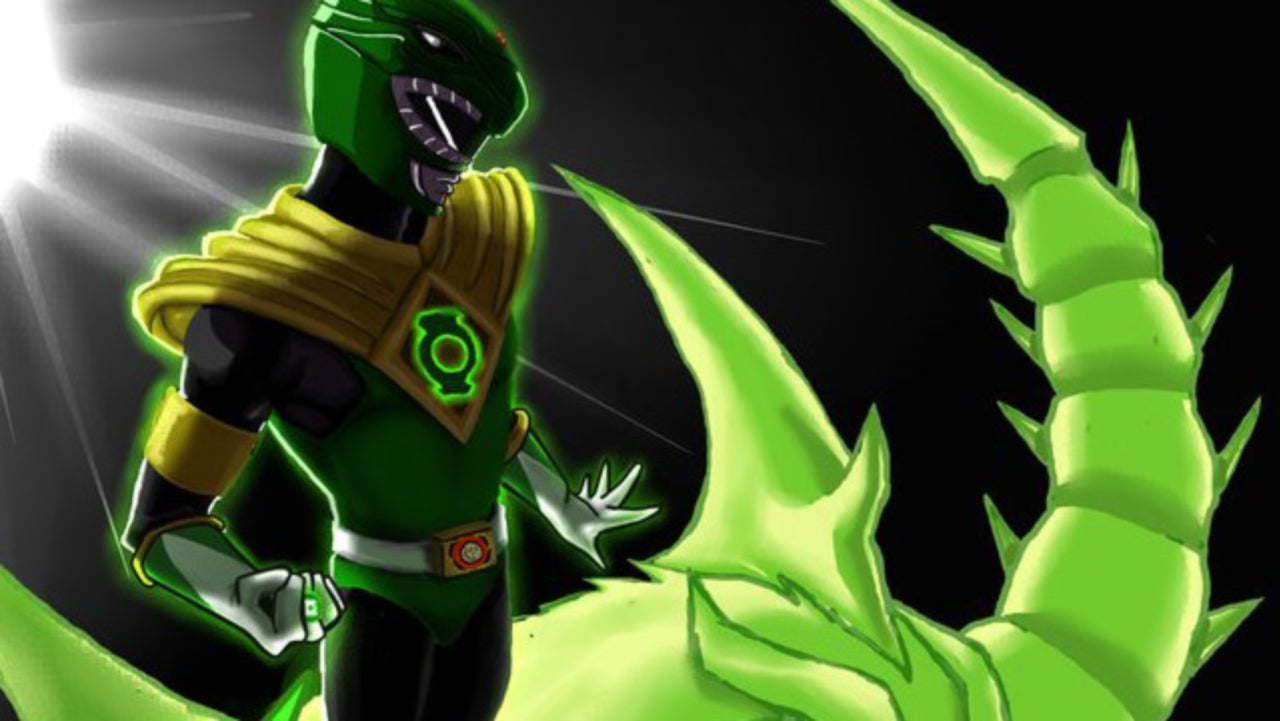The Green Ranger Commands A Green Lantern Dragonzord In This Awesome