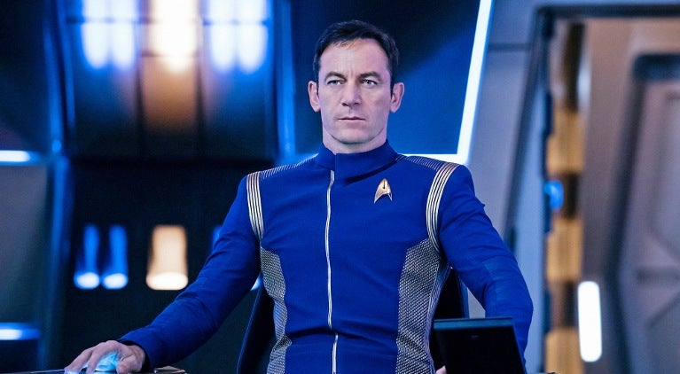 Jason isaacs captain lorca star trek discovery captain's chair
