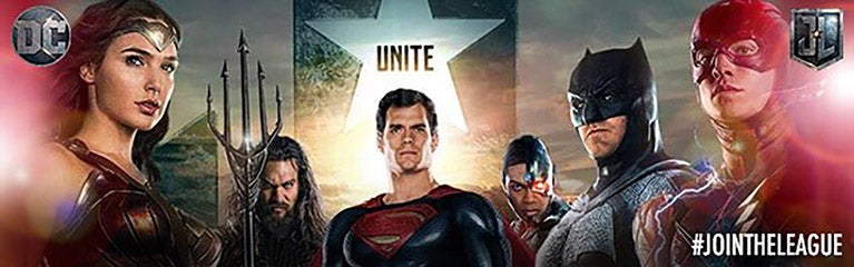 justice league superman banner