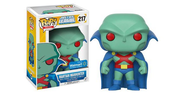 martian manhunter funko pop justice league unlimited