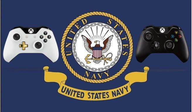 navy xbox controller