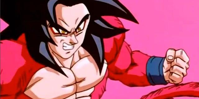 SSJ4_Goku_recovering_from_Baby's_Ki_Blast