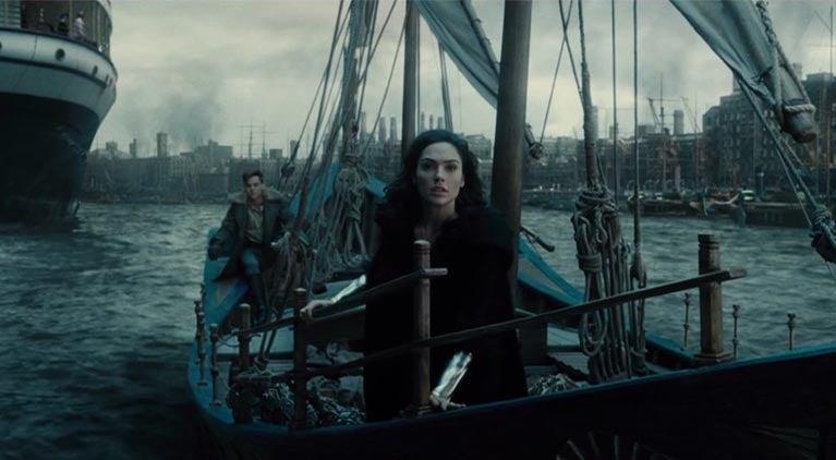 wonder woman alternative boat scene