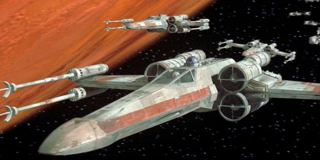 x-wing fighter star wars a new hope