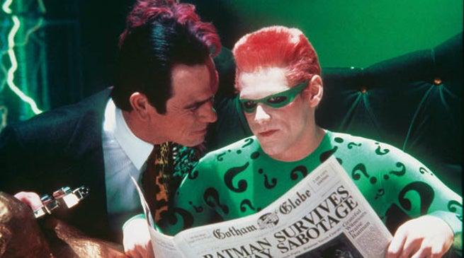 Batman Forever Tommy Lee Jones vs Jim Carrey
