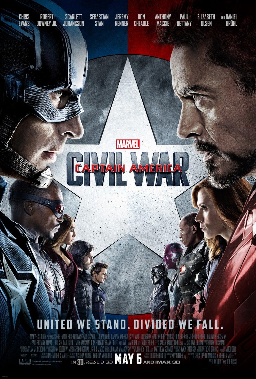 Captain America 3 Movie Poster - Marvel Cinematic Universe