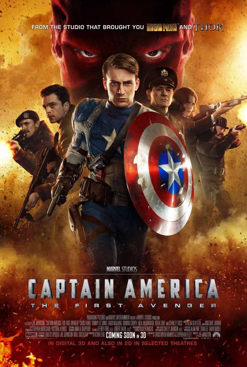 Captain America The First Avenger Movie Poster - Marvel Cinematic Universe