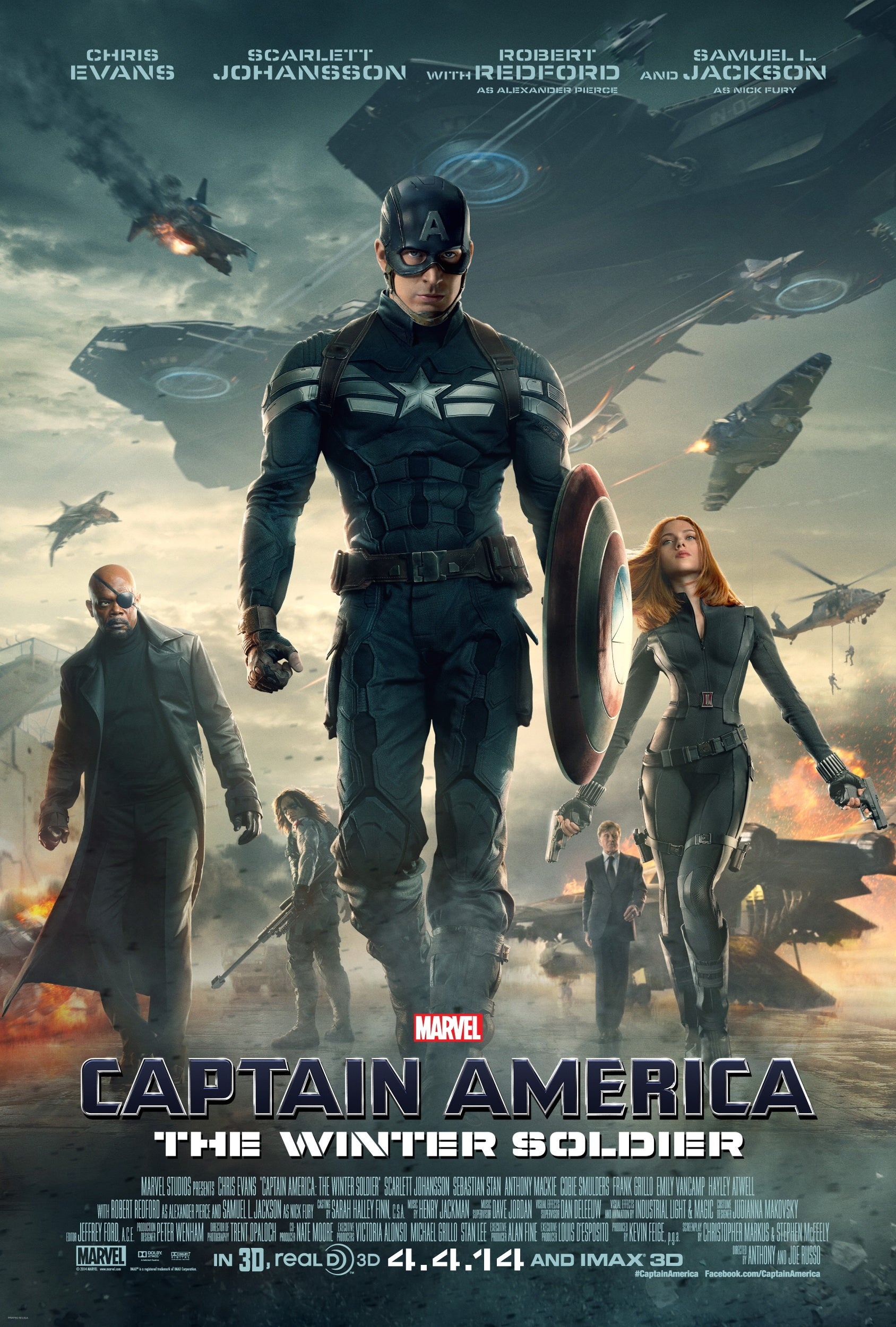 Captain America The Winter Soldier Movie Poster - Marvel Cinematic Universe