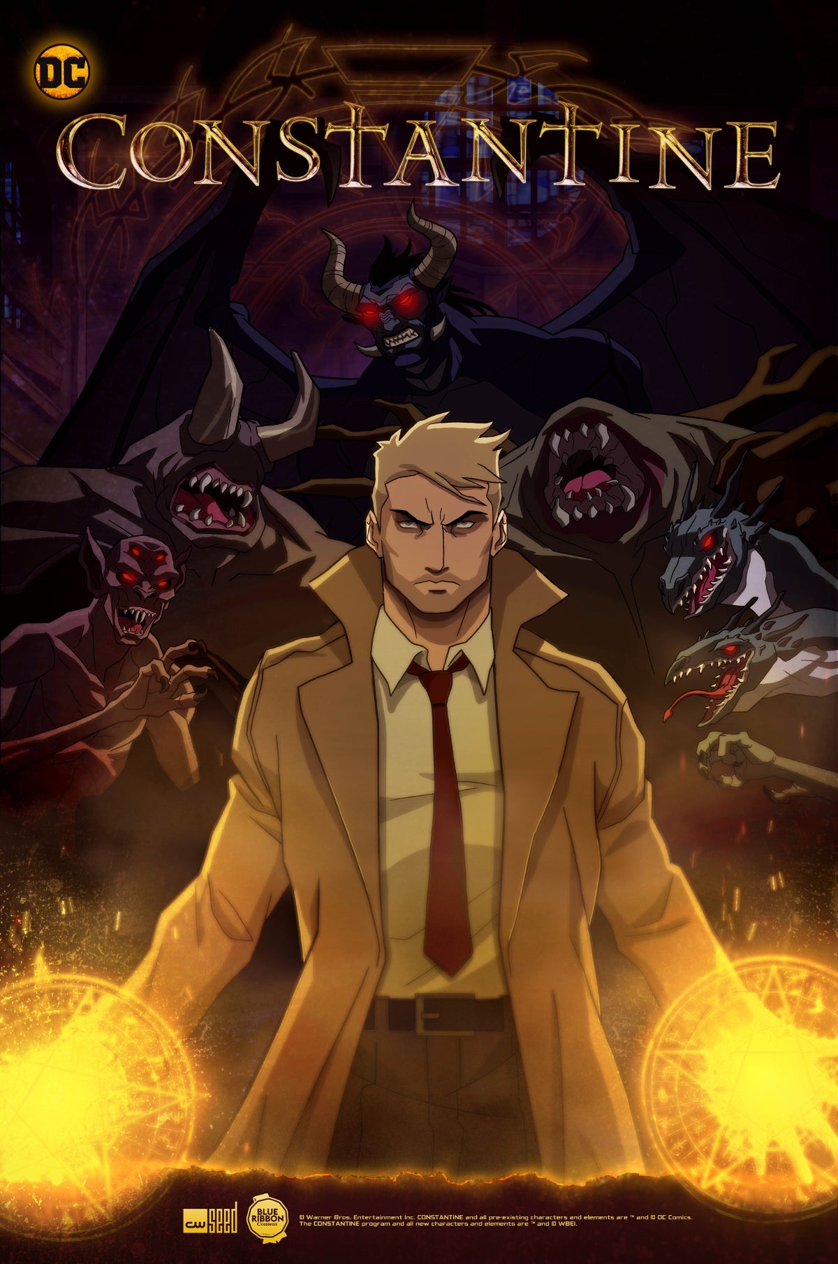 Constantine Animated Series Poster Artwork CW Seed