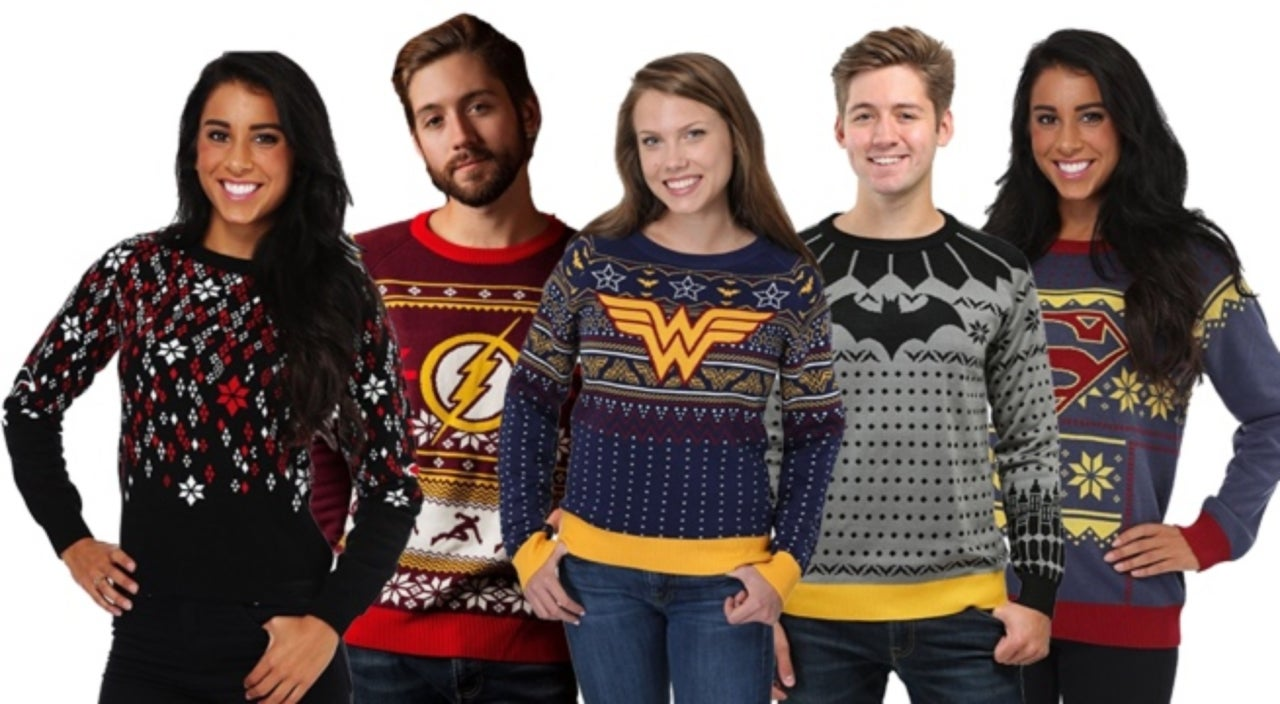 these dc comics christmas sweaters are anything but ugly
