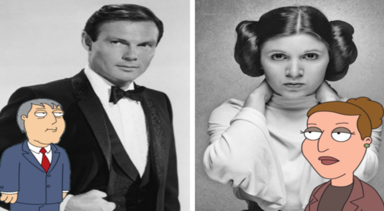 Family Guy To Address The Deaths Of Carrie Fisher And Adam West It takes a village idiot, and i married one. carrie fisher and adam west