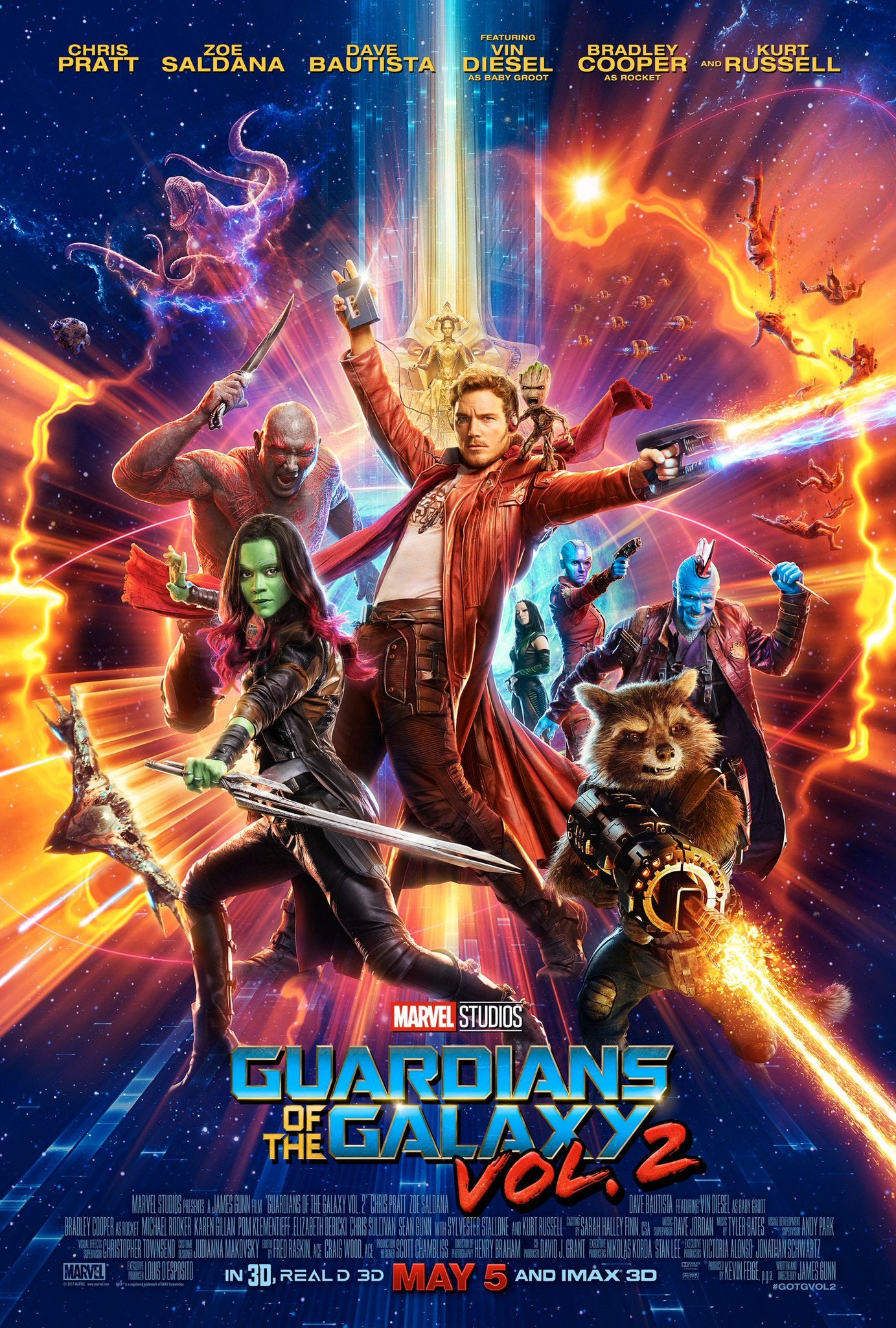 Guardians of the Galaxy 2 Movie Poster - Marvel Cinematic Universe