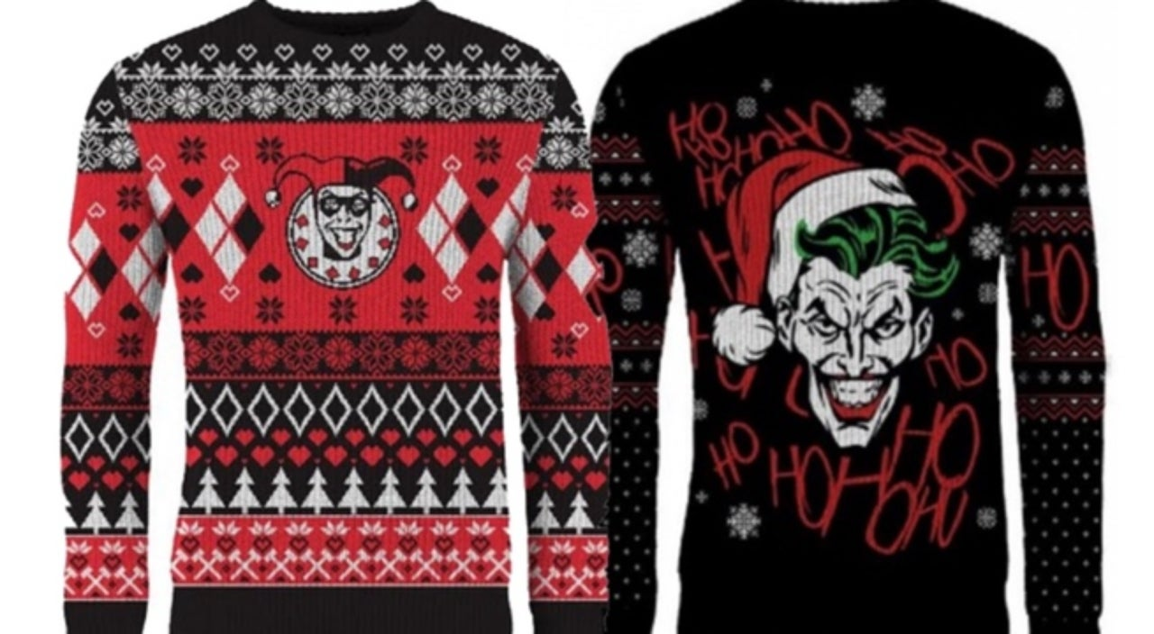 ugly christmas sweaters dc villains edition