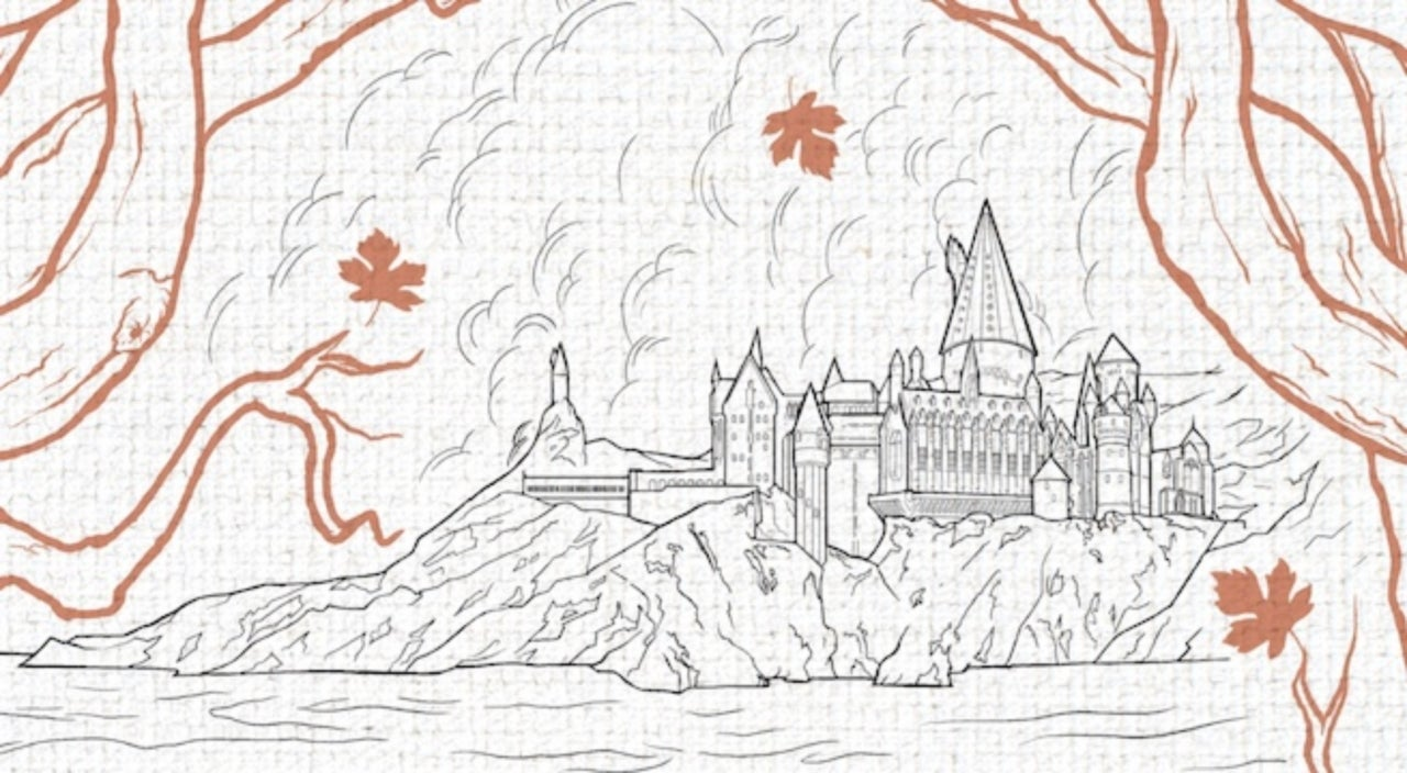 The most lavish harry potter coloring book for adults
