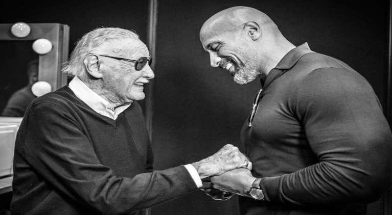 Stan Lee Dwayne Johnson