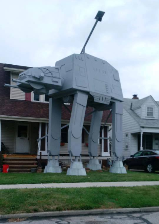 star wars at-at replica lawn cleveland