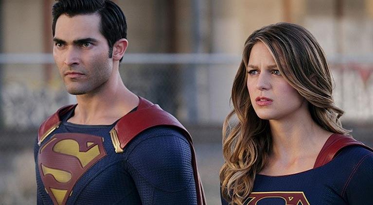 superman on supergirl