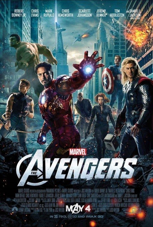 The Avengers Movie Poster - Marvel Cinematic Universe