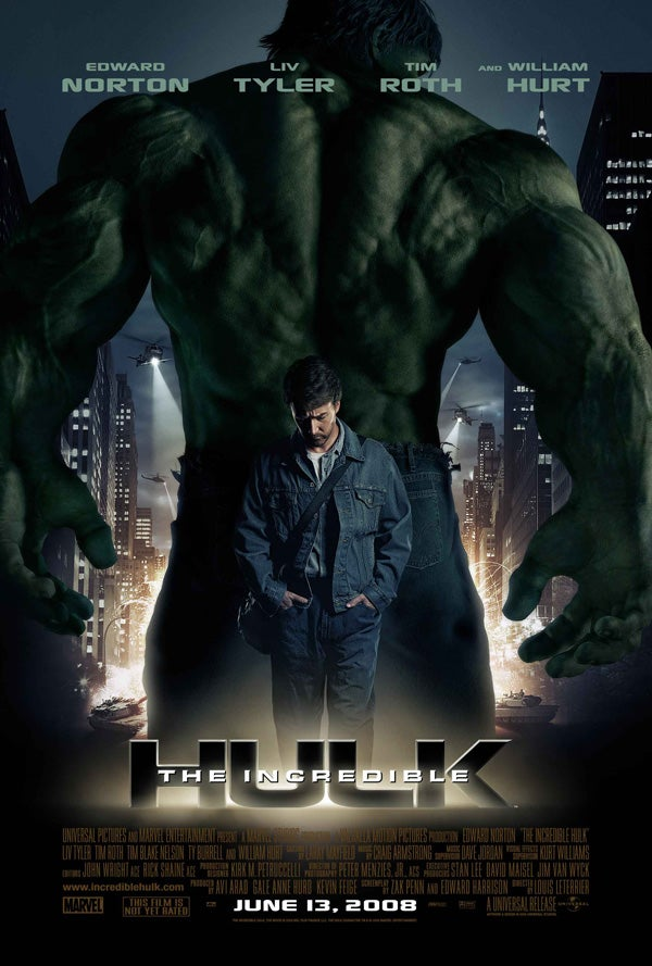 The Incredible Hulk Movie Poster - Marvel Cinematic Universe