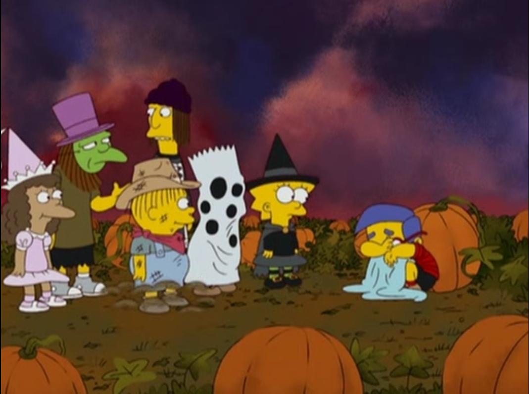 the simpsons treehouse of horror grand pumpkin milhouse
