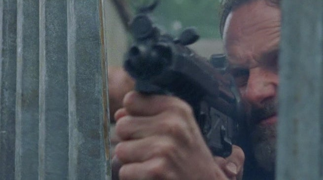 Walking Dead Season 8 Premiere Rick Shoots at Negan