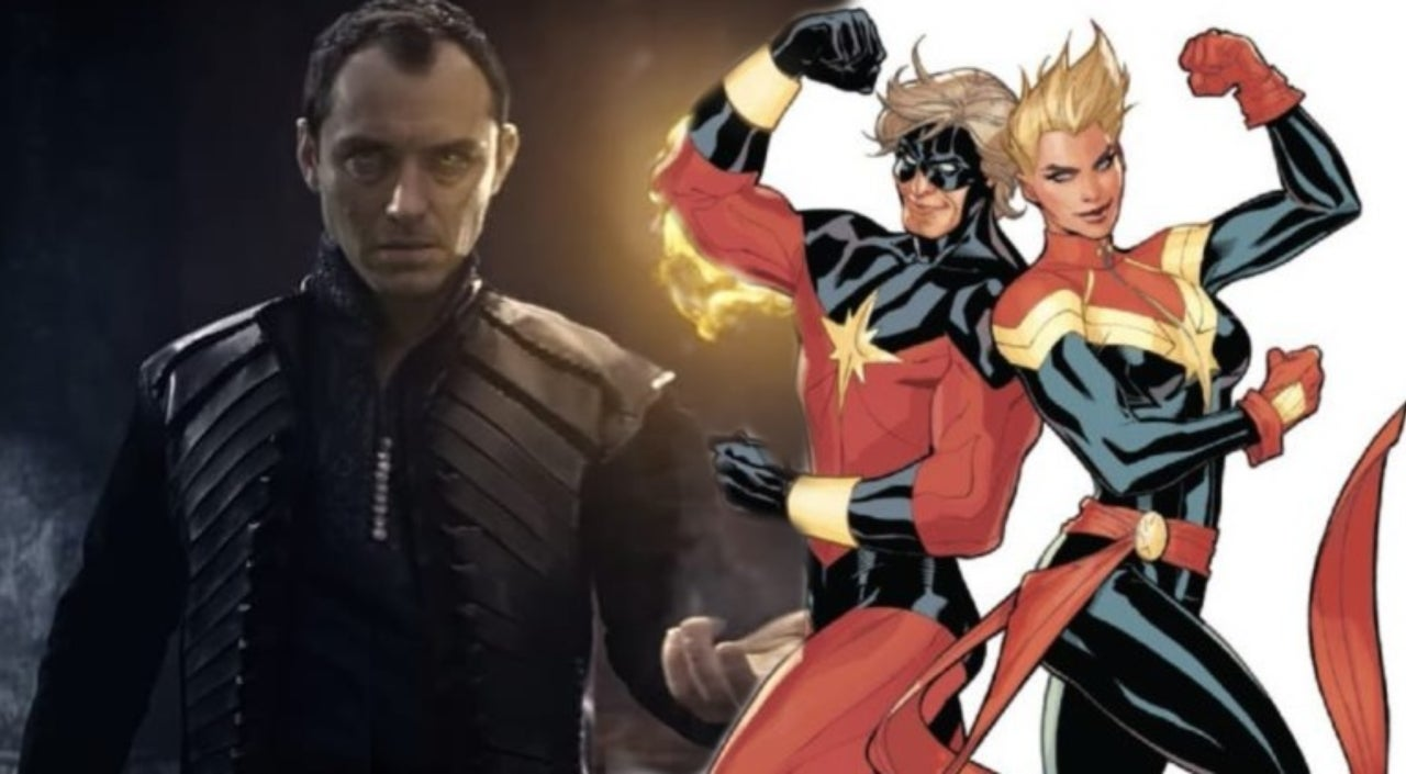 jude law's 'captain marvel' character revealed