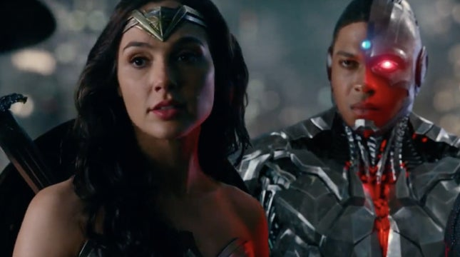 justice leage wonder woman cyborg