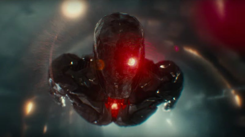 Justice League Deleted Scenes - Cyborg Takes Flight Face Mask