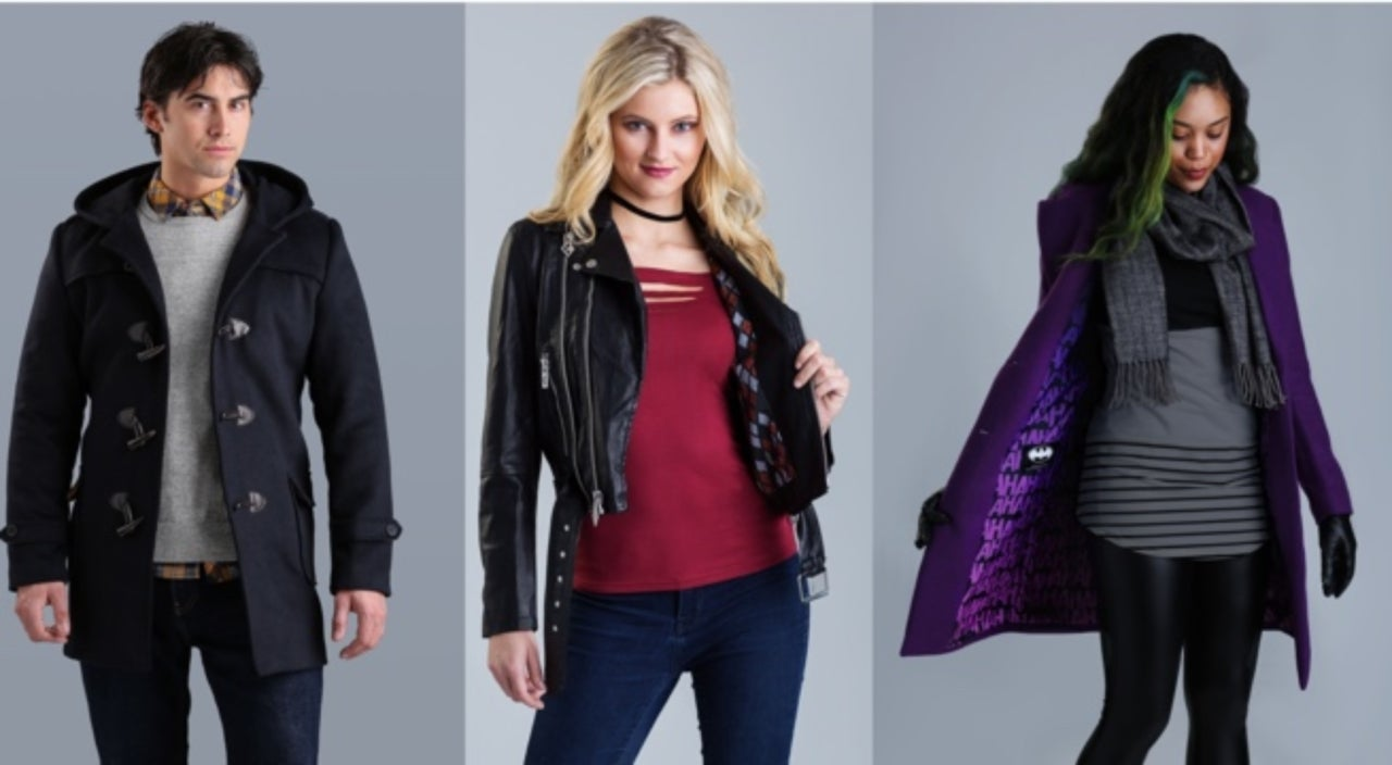 Marvel Women's Classic Wool Coat Avengers Lining NEW