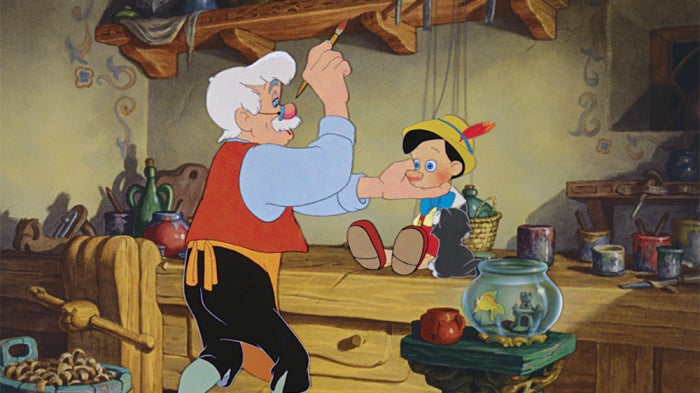 pinocchio disney animated live action