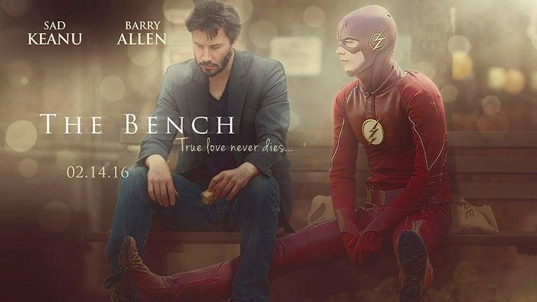 sad keanu and sad flash