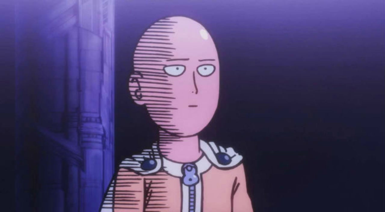 Saitama funny face from One Punch Man