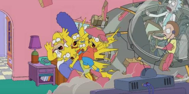 Simpsons Rick Morty