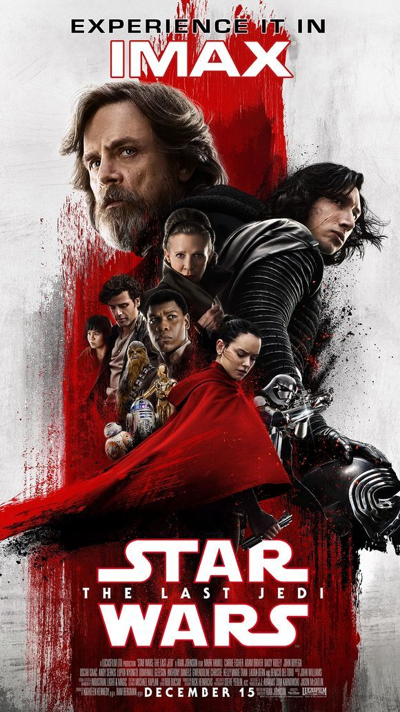 Star Wars Last Jedi IMAX Poster Red