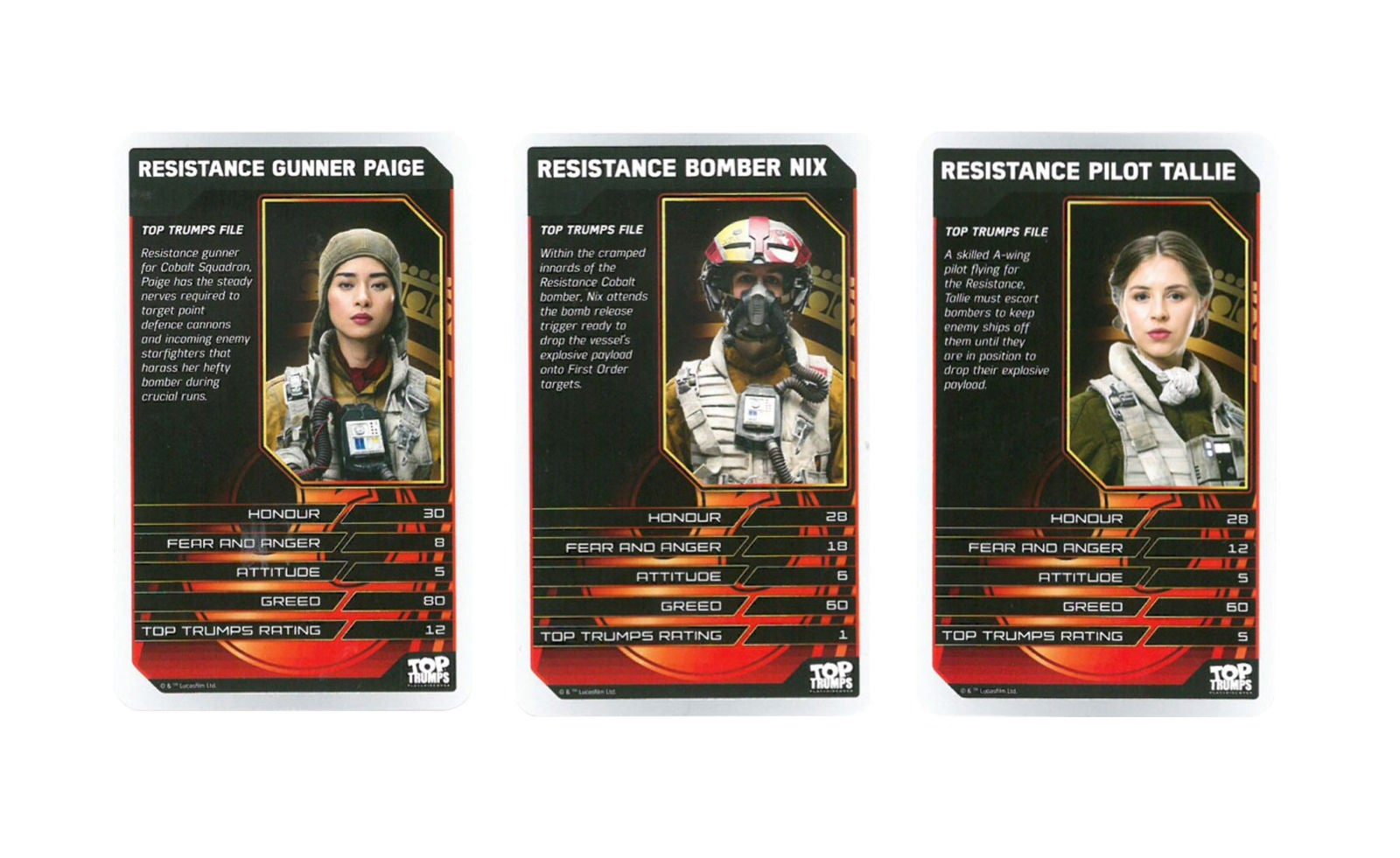 star wars the last jedi resistance pilots