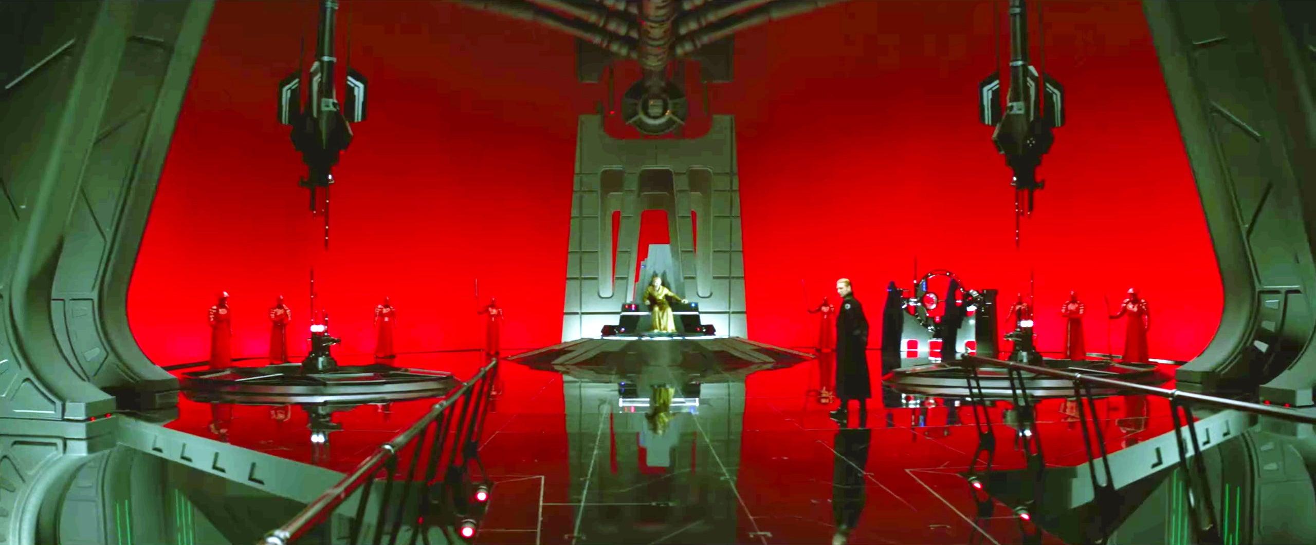 star wars the last jedi snoke throne room